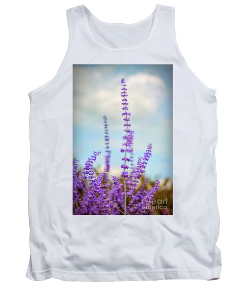 Tank Top featuring the photograph Lavender To The Sky by Kerri Farley