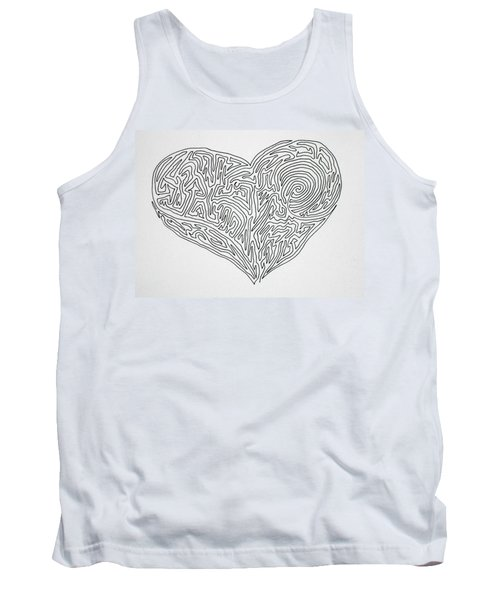 Laying Your Heart On A Line  Tank Top