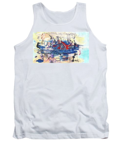 Laziness - Large Bright Pastel Abstract Art Tank Top