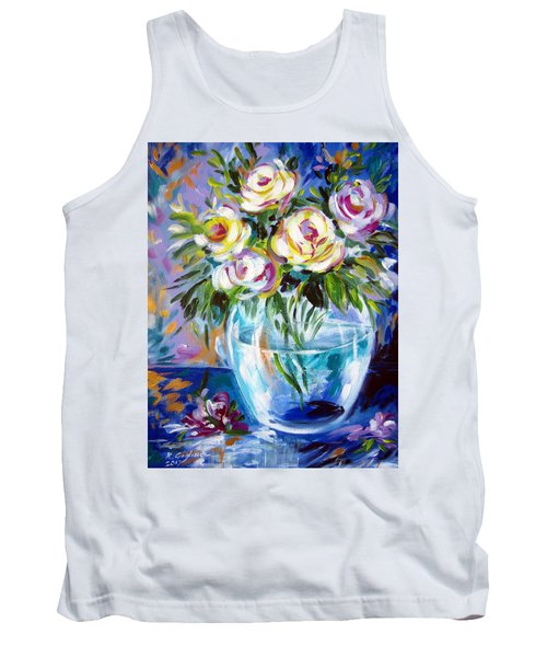 Tank Top featuring the painting Le Rose Bianche by Roberto Gagliardi