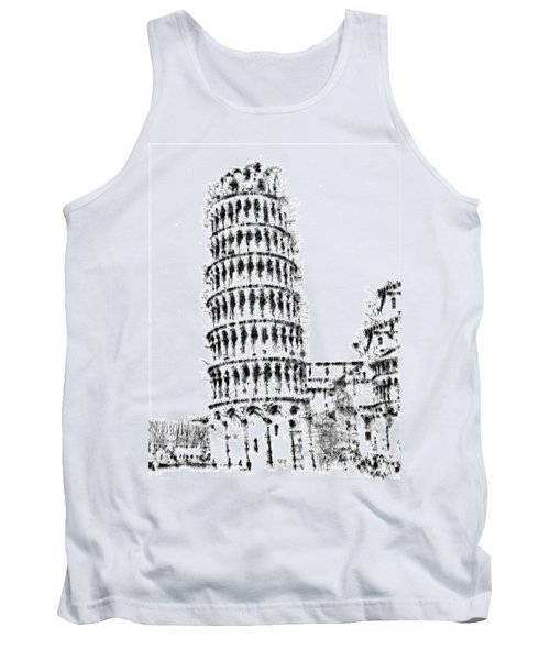 Leaning Tower Of Pisa Tank Top by ISAW Gallery
