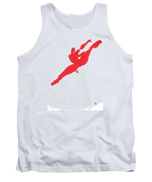 Leap Brush Red 3 Tank Top