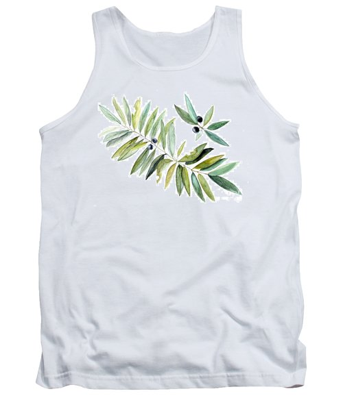 Tank Top featuring the painting Leaves And Berries by Laurie Rohner