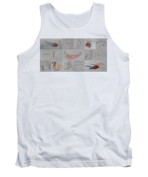 Leaves And Cracks Collage Tank Top by Ben and Raisa Gertsberg