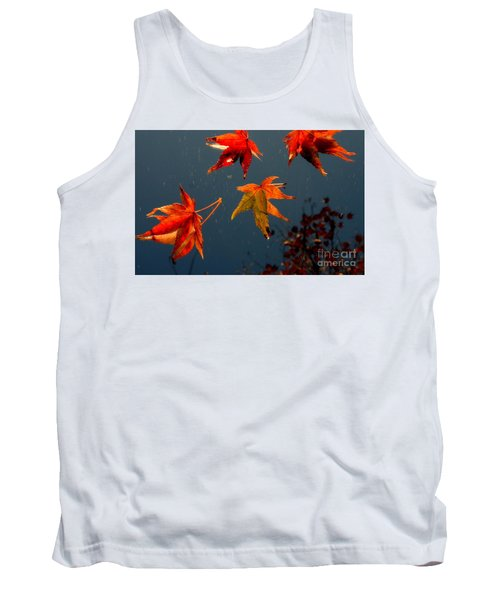 Leaves Falling Down Tank Top by Marie Neder