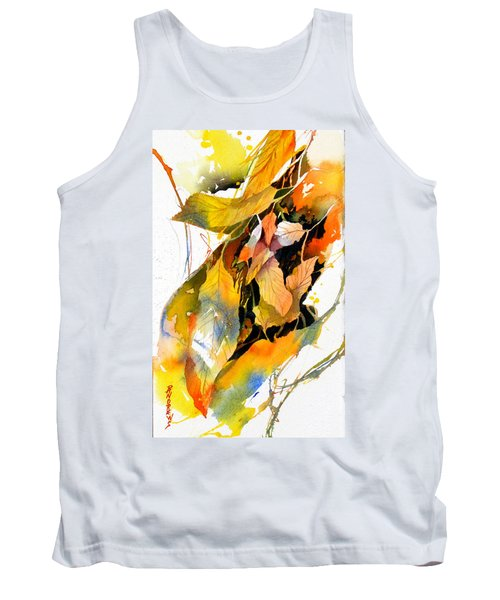 Tank Top featuring the painting Leaves by Rae Andrews