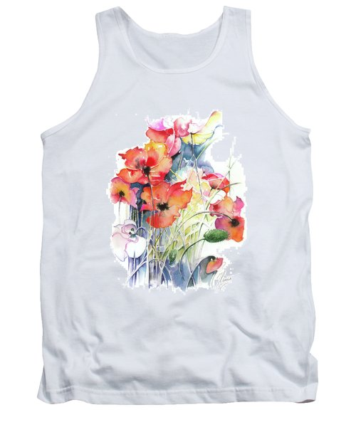 Tank Top featuring the painting Leaving The Shadow by Anna Ewa Miarczynska