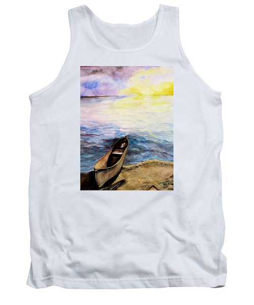 Tank Top featuring the painting Left Alone by Lil Taylor