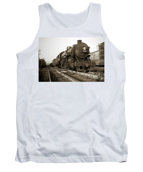 Lehigh Valley Steam Locomotive 431 At Wilkes Barre Pa. 1940s Tank Top