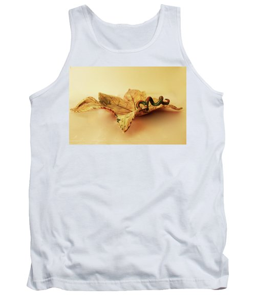 Tank Top featuring the photograph Leaf Plate 1 by Itzhak Richter