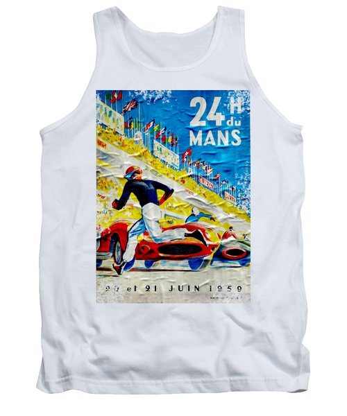 Lemans Distressed Poster Tank Top