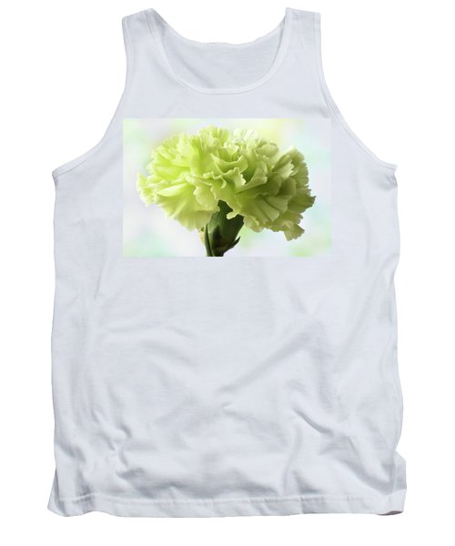 Tank Top featuring the photograph Lemon Carnation by Terence Davis