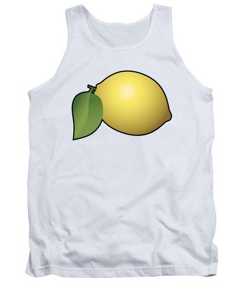 Lemon Fruit Outlined Tank Top by Miroslav Nemecek