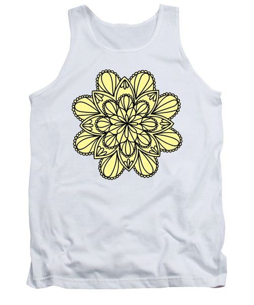 Lemon Lily Mandala Tank Top by Georgiana Romanovna