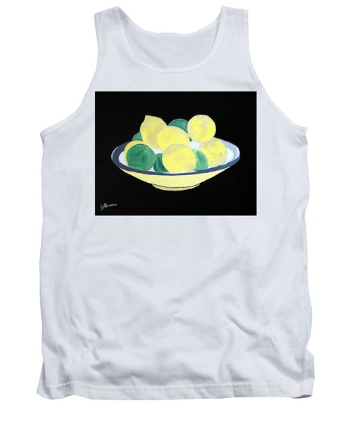 Lemons And Limes In Bowl Tank Top