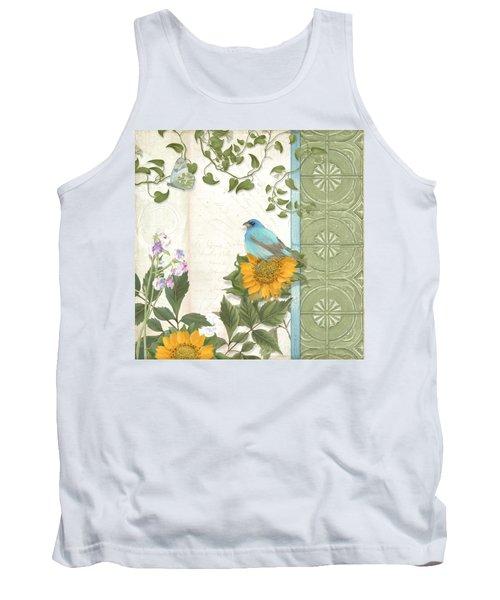 Les Magnifiques Fleurs Iv - Secret Garden Tank Top by Audrey Jeanne Roberts