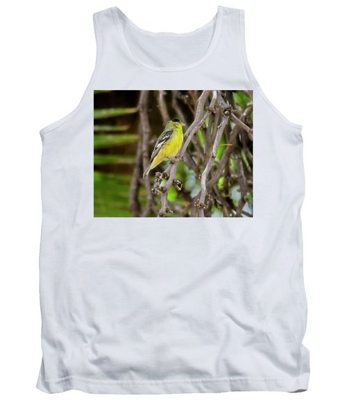 Tank Top featuring the photograph Lesser Goldfinch H57 by Mark Myhaver