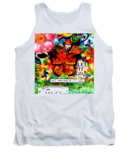 Tank Top featuring the mixed media Let It Go by Genevieve Esson