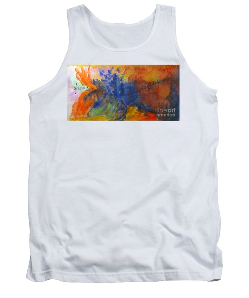 Let Your Music Take Wing Tank Top by Sandy McIntire