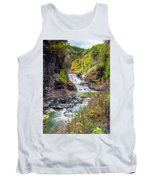 Letchworth Lower Falls In Autumn Tank Top
