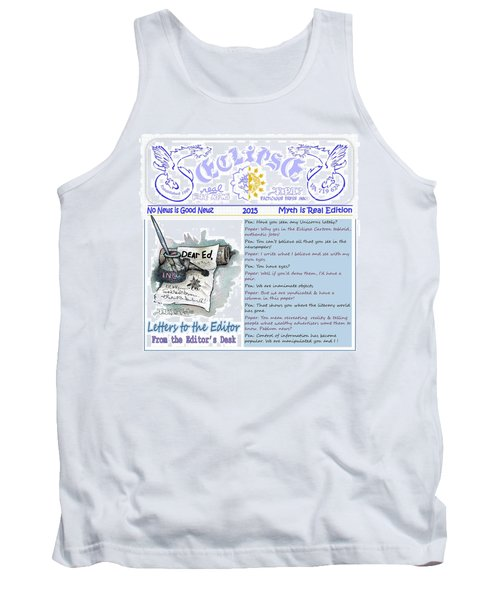 Real Fake News Letters To The Editor Tank Top