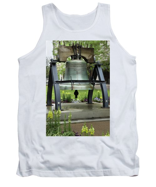 Tank Top featuring the photograph Liberty Bell Replica by Mike Eingle