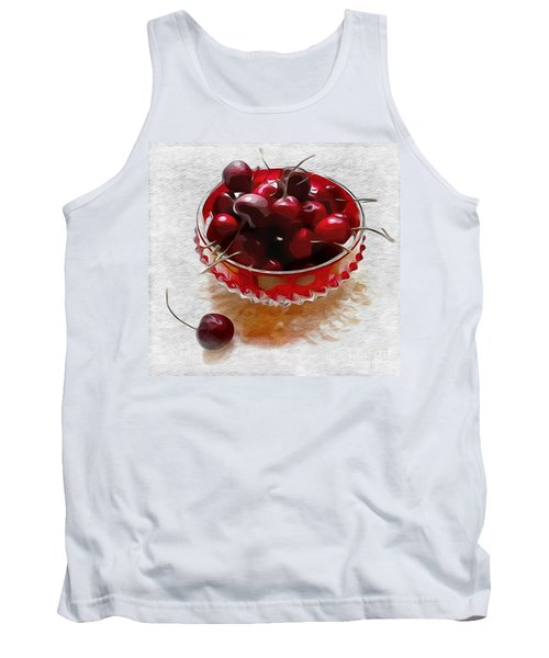 Tank Top featuring the digital art Life Is A Bowl Of Cherries by Alexis Rotella