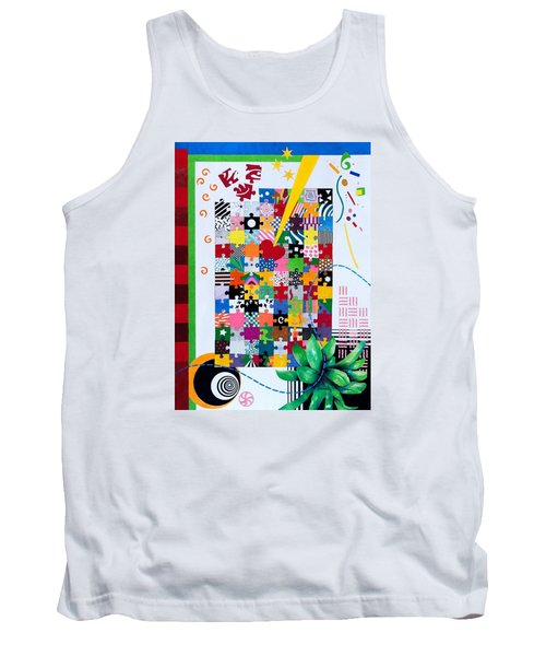 Life Is A Puzzle Tank Top by Thomas Gronowski