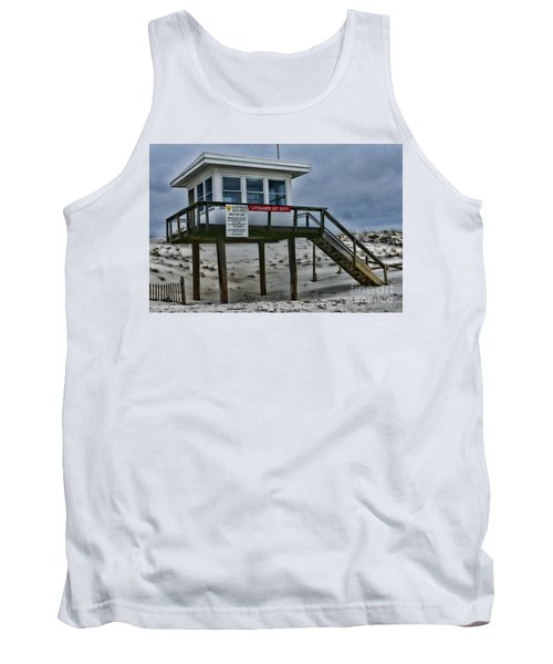 Tank Top featuring the photograph Lifeguard Station 1 by Paul Ward