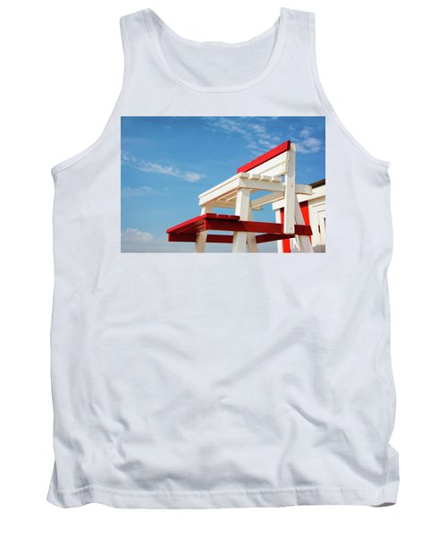 Lifeguard Station Tank Top by Marion McCristall
