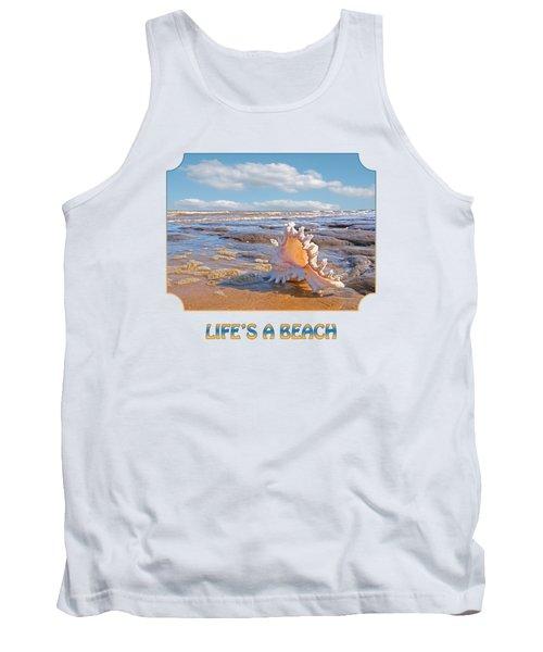 Life's A Beach - Murex Ramosus Seashell - Square Tank Top