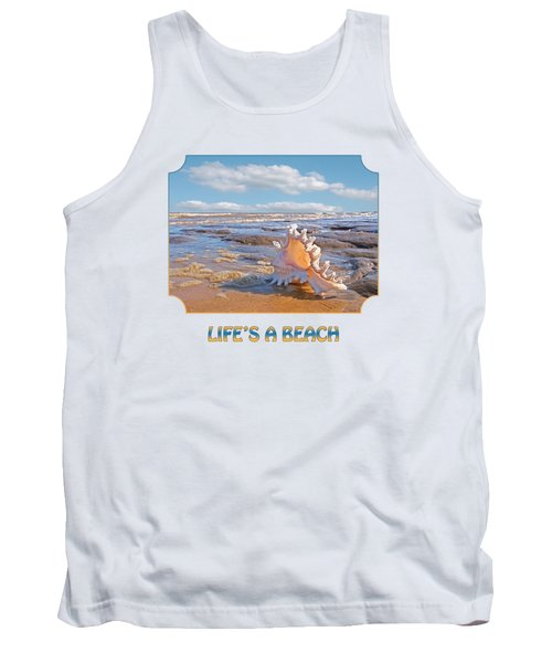 Life's A Beach - Murex Ramosus Seashell - Square Tank Top