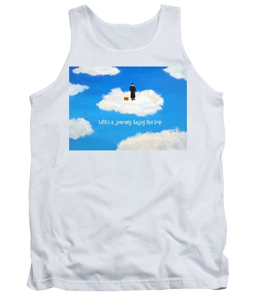 Life's A Journey Greeting Card Tank Top