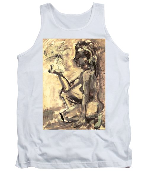 Tank Top featuring the painting Light And Shadow by Mary Schiros