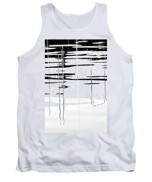 Light And Shadow Reeds Abstract Tank Top