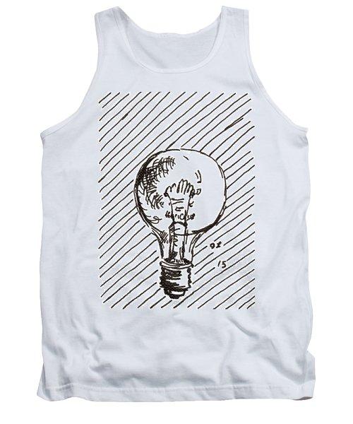 Light Bulb 1 2015 - Aceo Tank Top