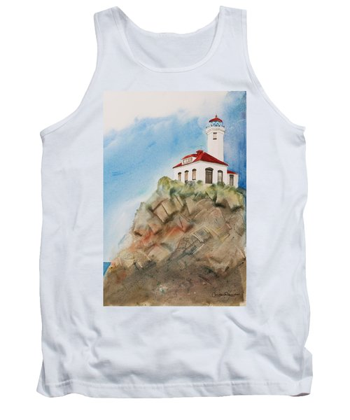 Lighthouse At Point Wilson Tank Top