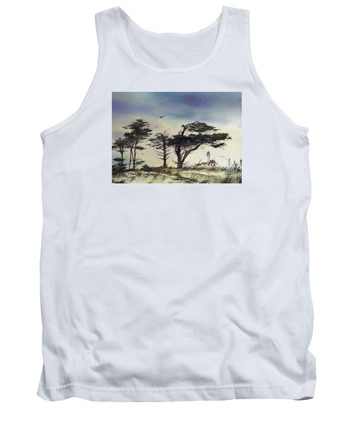 Tank Top featuring the painting Lighthouse Coast by James Williamson