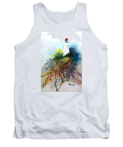 Tank Top featuring the painting Lighthouse I - Original Sold by Therese Alcorn
