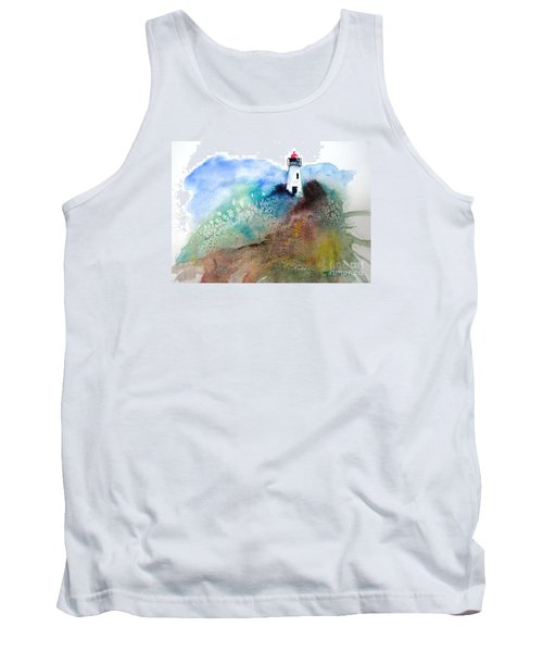 Tank Top featuring the painting Lighthouse II - Original Sold by Therese Alcorn