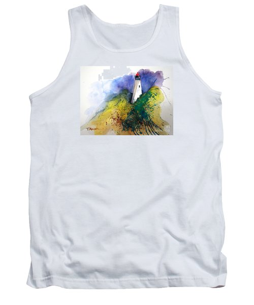 Tank Top featuring the painting Lighthouse IIi - Original Sold by Therese Alcorn