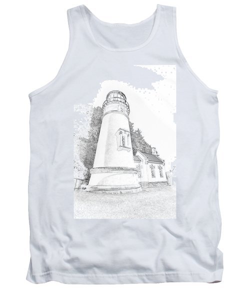 Lighthouse In Oregon Tank Top