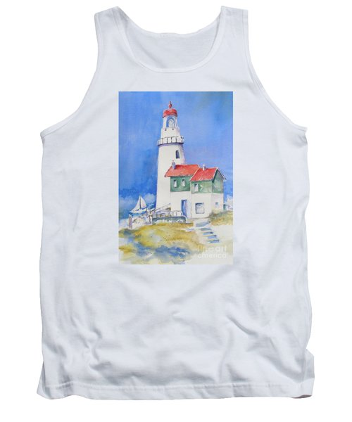 Tank Top featuring the painting Lighthouse by Mary Haley-Rocks
