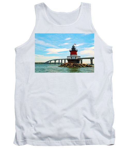 Lighthouse On A Small Island Tank Top