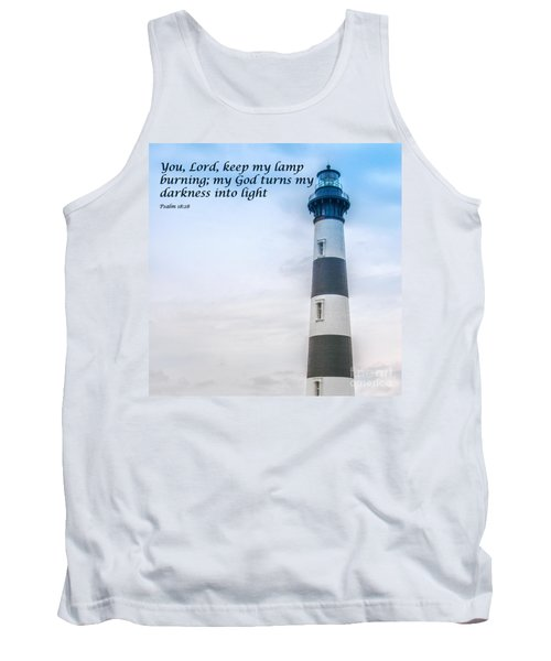 Lighthouse Scripture Verse Tank Top