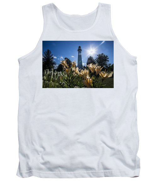 Lighthouse With A Flowery Foreground Tank Top