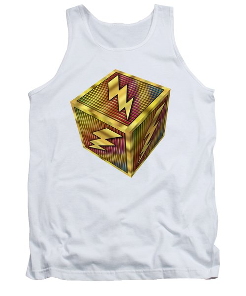 Lightning Bolt Cube - Transparent Tank Top