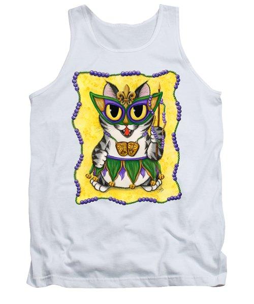 Lil Mardi Gras Cat Tank Top