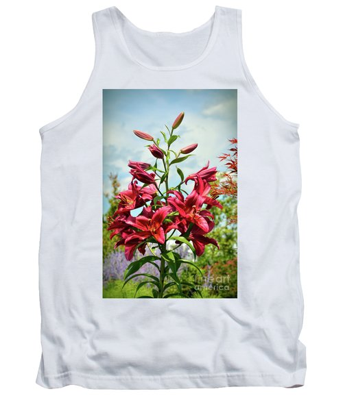 Tank Top featuring the photograph Lilies In The Garden by Kerri Farley