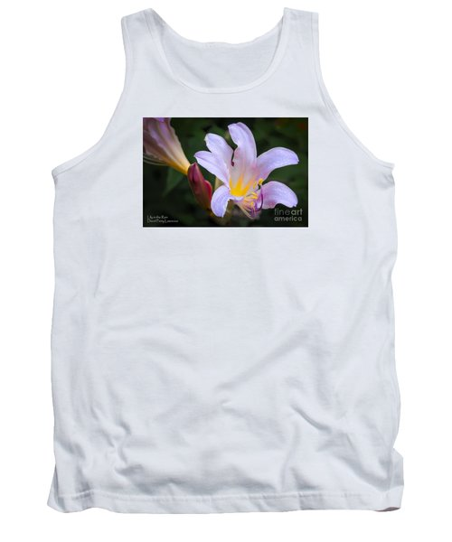 Tank Top featuring the photograph Lily In The Rain By Flower Photographer David Perry Lawrence by David Perry Lawrence